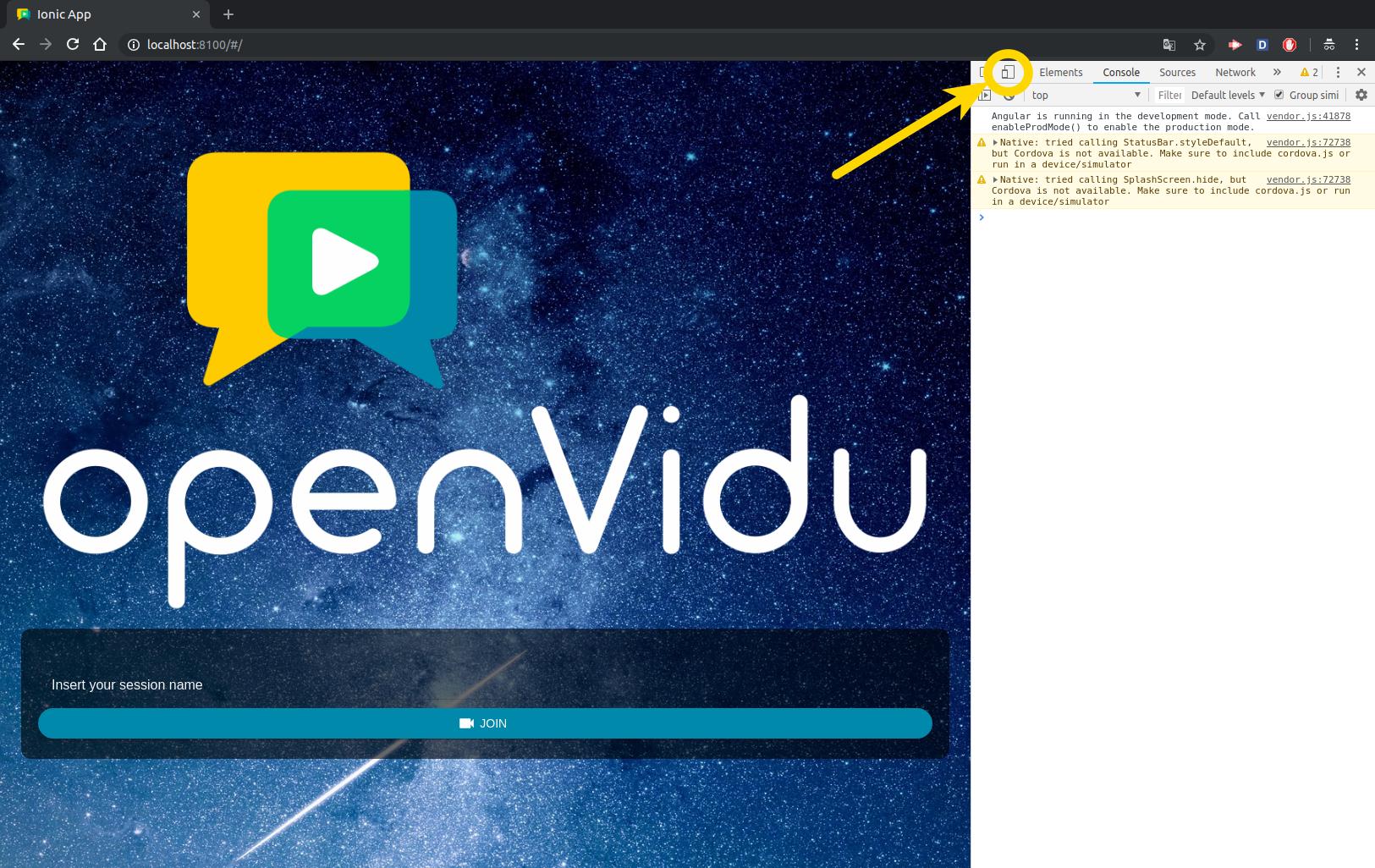 OpenVidu Documentation - openvidu-call-ionic